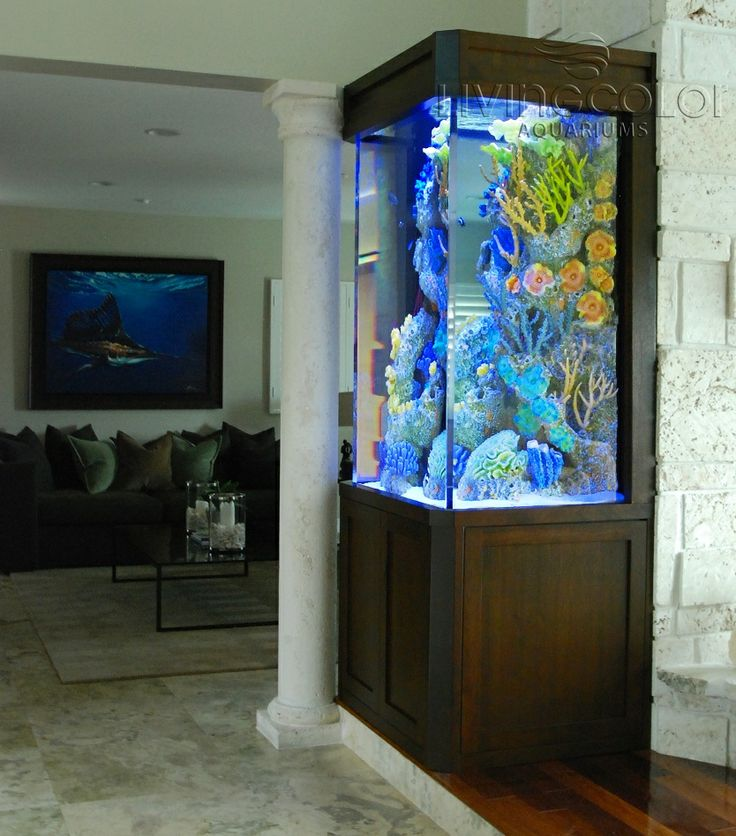 Tall 3 sided Aquarium Dimensions  36 u2033L x 27 u2033W x 54 u2033H 250 Gallons   Living Color Aquariums