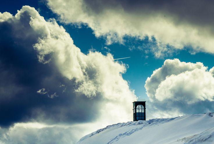 Phone booth to heaven - Photo taken near Furnica Peak (elev. 2103m), located in the Bucegi Massif, Romania.