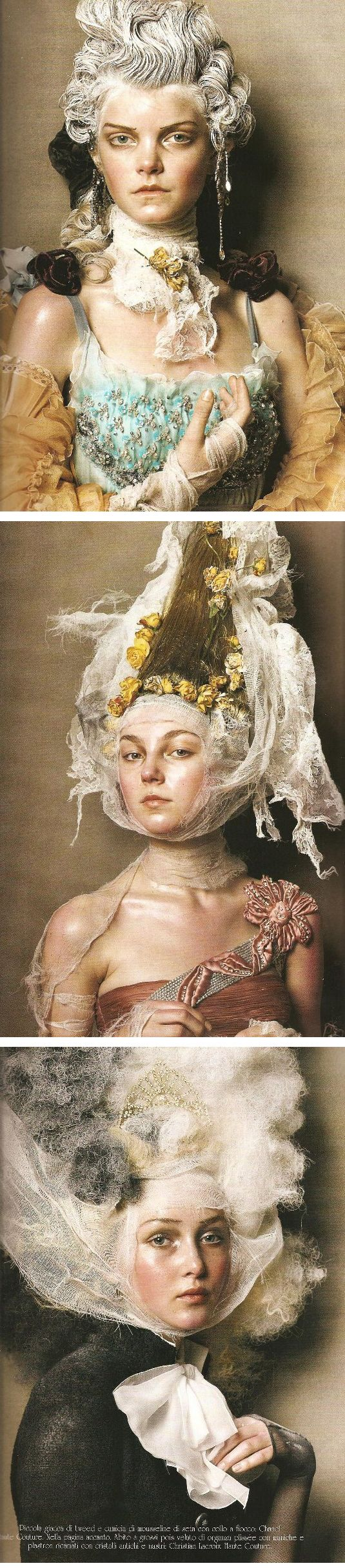 Couture Magic | By Steven Meisel for Vogue Italia, March 2005.