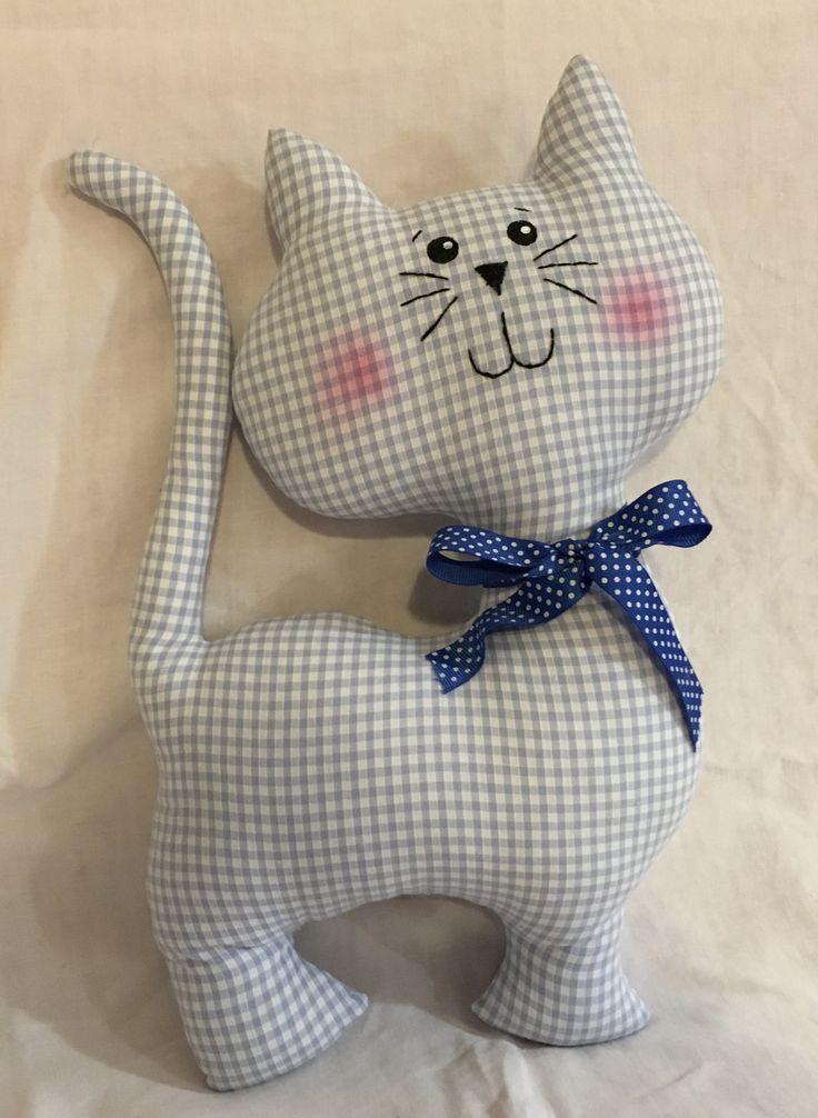 chat en tissu 40 cm Explications sur blog