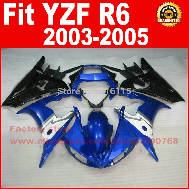 304.00$  Watch now - http://alirce.worldwells.pw/go.php?t=32291581043 - Motorcycle parts for YAMAHA R6 2003 2004 2005 fairing kit black blue white YZF R6 fairings kits 03 04 05 7 gifts 304.00$
