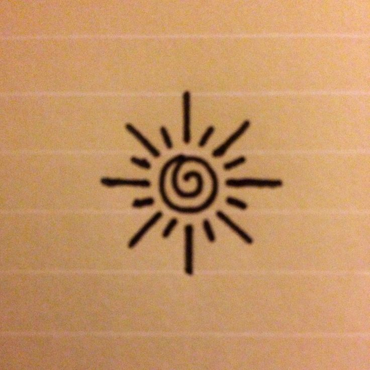 Is A Small Simple Design Of Sun Perhaps For An Inner Wrist Tattoo