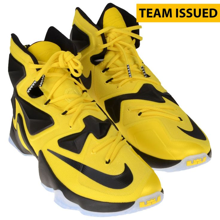 Oregon Ducks Fanatics Authentic Team-Issued Yellow and Black LeBron James Nike Soldier XIII Basketball Shoes - Size 13