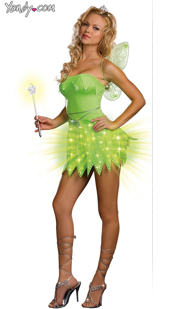 bright sprite costume light up adult tinkerbell halloween costume wish the dress was a - Wish Halloween Costumes