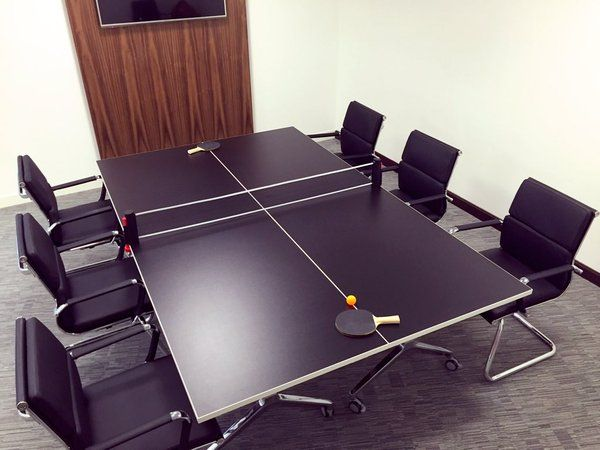 Brilliant use of our Deploy table tennis table from our friends over at Calibre Search. Bringing fun to the boardroom in style. For more information please contact klou.tt/lo6wy29k50s