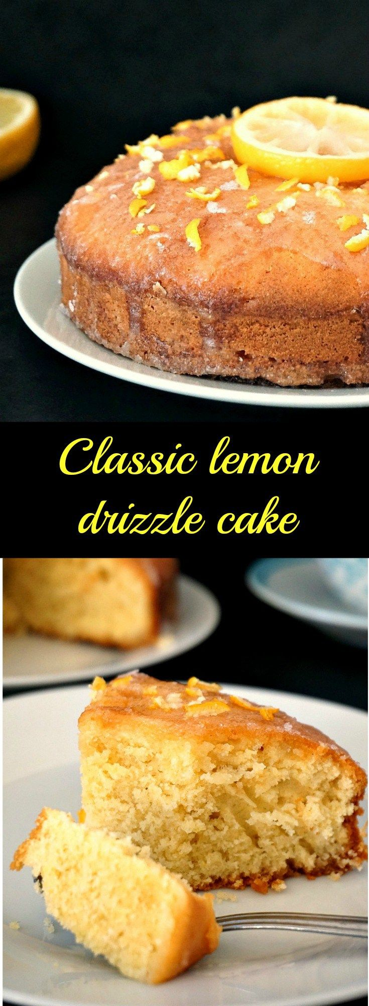 Classic lemon drizzle cake recipe