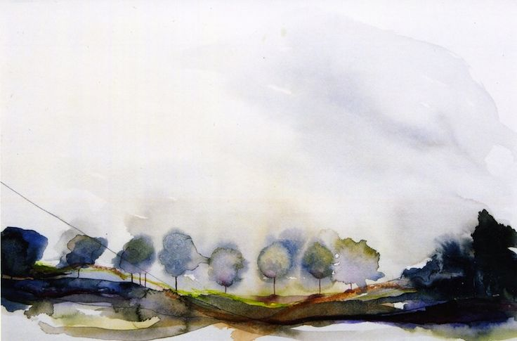 Morning Mist - 2001 Watercolour on paper painting Louisa Boyd