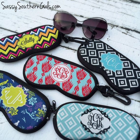 SunGlasses Case, Monogrammed Sunglasses Case, Personalized Sunglasses Case, Custom Sunglasses Case, Glasses Case, Eyeglass Case on Etsy, $26.00