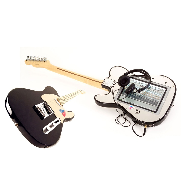 Intelecaster technology demonstrator guitar for Intel and Fender by Neil Barron from Gusto