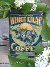 coffee tin ~~ from 52 FLEA: Paula's Cottage Gardens
