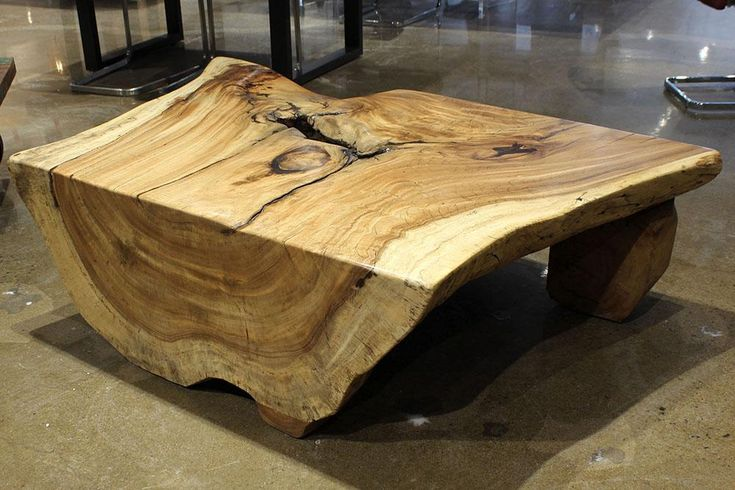 "56"" freeform coffee table made of solid acacia 