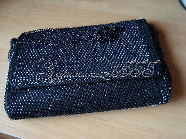 вечерняя сумочка крючком с бисером | Счастливые минуты вязания