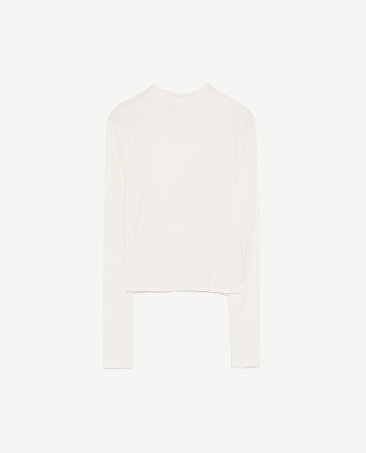 Image 8 of CROPPED FUNNEL NECK T-SHIRT from Zara