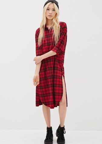 Длинное платье-рубашка 2017 (53 фото): в пол, макси, в полоску, в клетку, с длинным рукавом, с чем носить, джинсовое