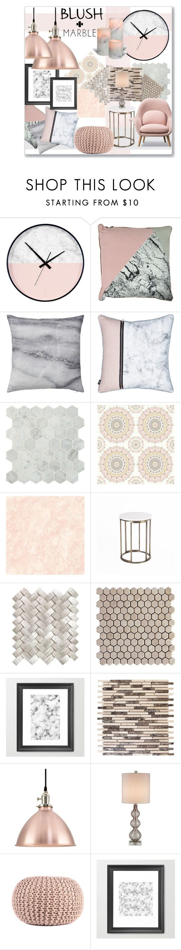 """SOFT and Sleek"" by jckallan on Polyvore featuring interior, interiors, interior design, home, home decor, interior decorating, Bloomingville, Brewster Home Fashions, Currey & Company and homedecor"