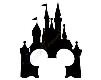 Disney Castle Svg Silhouette Png Files For Cricut