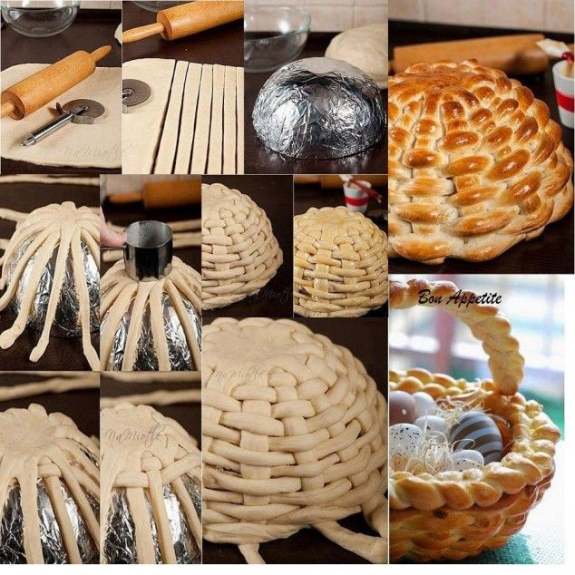 15 DIY Simple and Genius Ideas that can Inspire You (the site has a few ideas not related to baking- this pin is for the cute bread basket! :D )