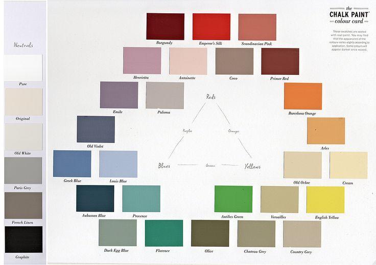 best 25 annie sloan chalk paint colour chart ideas on pinte