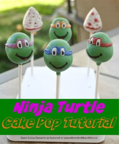 Ninja Turtle Cake Pops recipe & Tutorial - this is a great dessert idea for a birthday party!