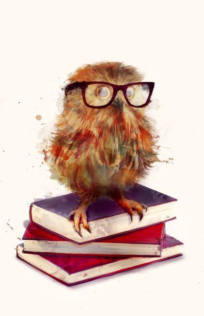 Smart Owl Art Print @Leah Jane Long  I Think Youu0027d Like Her