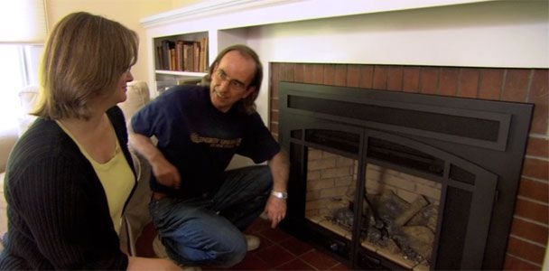 Upgrading an old wood-burning fireplace with This Old House plumbing and heating contractor Richard Trethewey