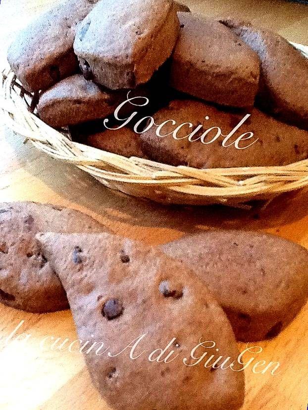 Gocciole di cioccolato fondente - ricetta dolci