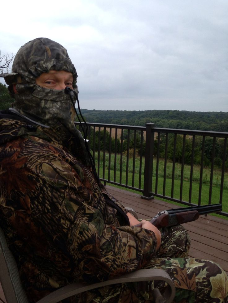 Dove hunting off deck