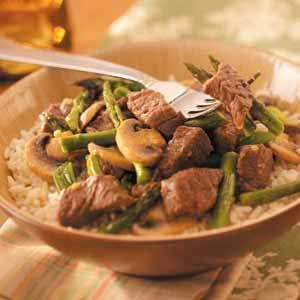 Asparagus Beef Stir-Fry Recipe from Taste of Home -- shared by Linda ...