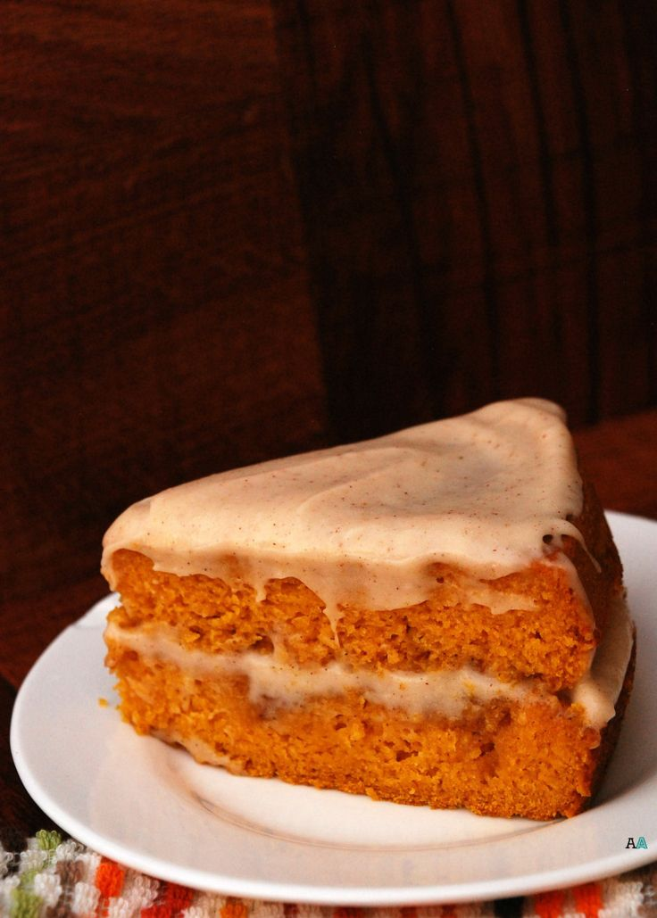 Making this instead of pumpkin pie for Thanksgiving! Pumpkin Cinna-Swirl Cake with Spiced Maple Cream Cheese Frosting (Top 8 Free, GF, Vegan)