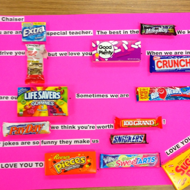 17 Best TEACHER CANDY BOARDS Images On Pinterest
