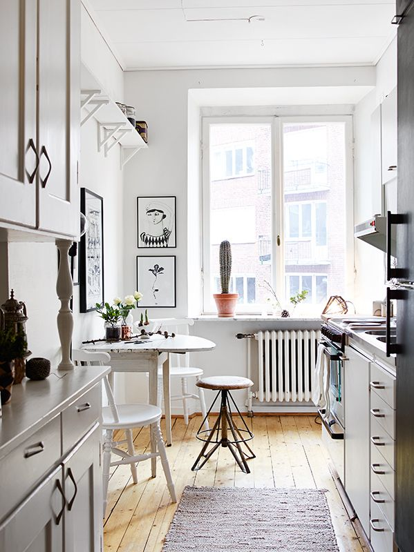 what is it i love about this room? this kitchen looks like some lofty art studio.