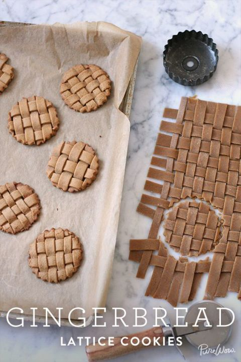 Weave together pieces of dough into a lattice and then cut out circles to bake. You'll get crafty, Lattice Gingerbread Cookies that are sure to impress.