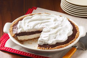 Mud Pie 22NILLA Wafers, crushed (about 3/4 cup) 1/2cupfinely choppedpecans 2Tbsp.butter, melted 1pkg.(8 oz.)brick cream cheese, softened 3/4cuppowdered sugar 1-1/2cupsthawedCOOL WHIP Whipped Topping, divided 1pkg.(3.9 oz.)JELL-O Chocolate Instant Pudding 1-3/4cupscoldmilk