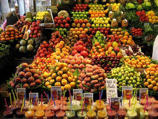La Boqueria food market in Barcelona is amazing. --it SO totally is! :) <3