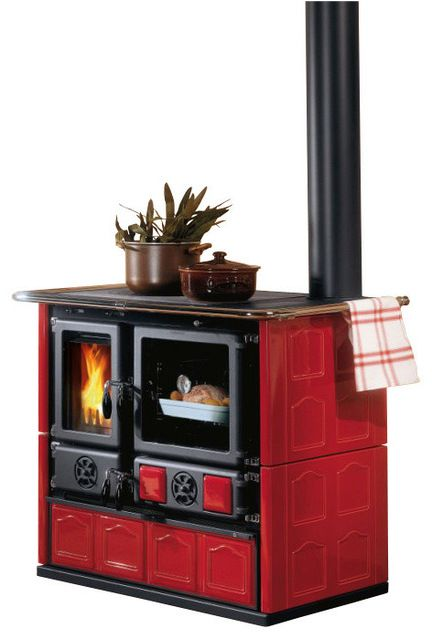 Wood Cook Stove La Nordica Rosa Maiolica Wood Burning