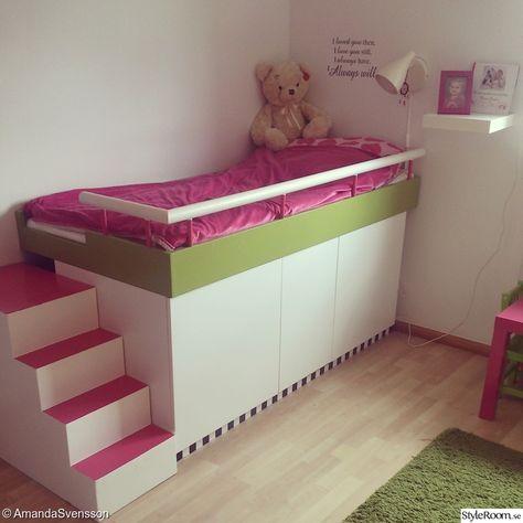 barnsäng,säng,ikea säng,bygg sänggavel,säng på köksskåp