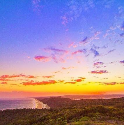 Beautiful sunset taken from the lookout at the lighthouse on Double Island Point and looking south towards Noosa!