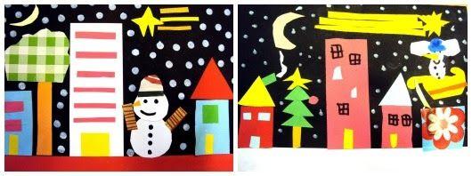 postal, de Nadal, collage