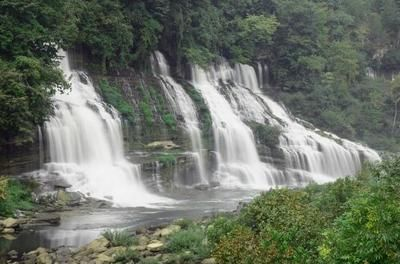 Beautiful falls at Rock Island State Park near Cookeville Tennessee.