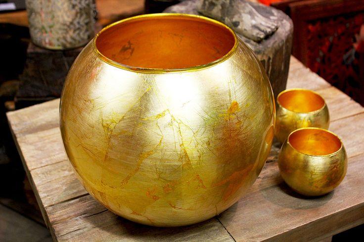 #Vaso in #vetro #oro.