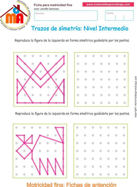 Trazos de simetría: Nivel intermedio 04 - Material de Aprendizaje
