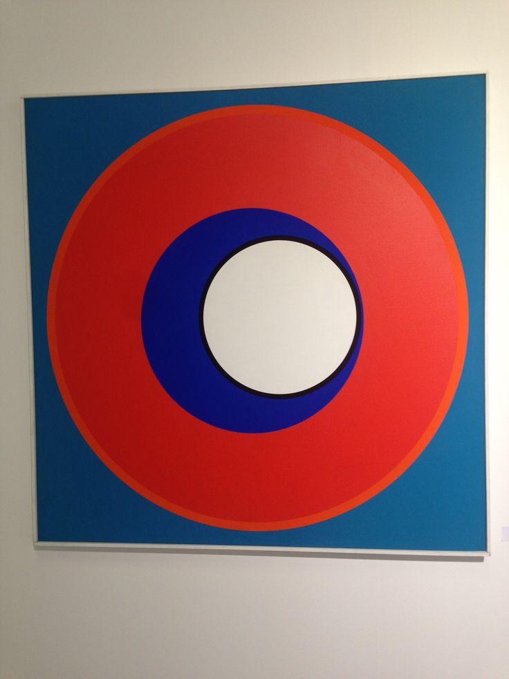 """Genvieve Claisse """" Alphaville Jaune"""" 1965 Acrylique sur Toile Fiac 2014 116 x 81 Cms"""