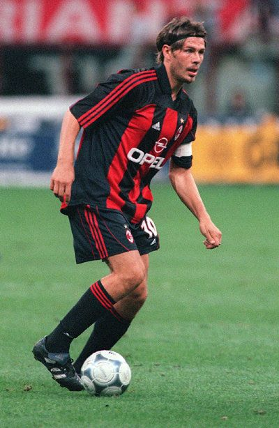 Zvonimir Boban ( born 8 October 1968) is a former Croatian football midfielder who played most of his professional career for Serie A club Milan with whom he won four Serie A and one UEFA Champions League titles. He also captained the Croatia national team which won third place at the 1998 FIFA World Cup. Boban scored three times in this tournament, as well as scoring his penalty in the decisive shootout in the final.