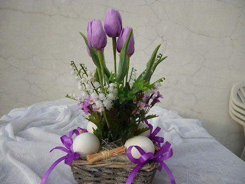 Velikonoční košík do fialova