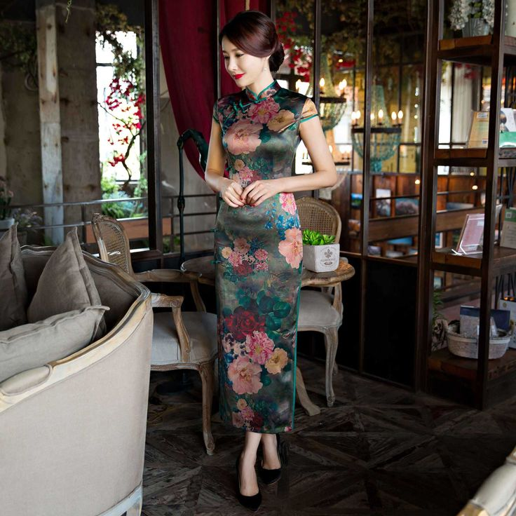 2017 Acrylic Sale Qipao Chinese Traditional Dress New Cheongsam Autumn Suzhou Long Sleeved Modified By The Ancient Wholesale