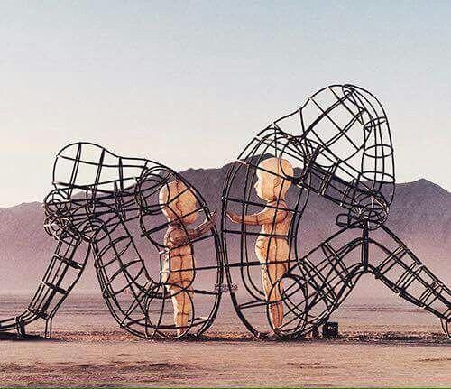 Best Alexander Milov LOVE Images On Pinterest Andrew Miller - Thought provoking burning man sculpture shows inner children trapped inside adult bodies