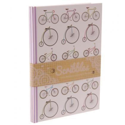 Zápisník s tvrdými deskami a motivem Retro kolo, formát A5 #dekorace #doplnky #kolo #bicycle #accessories #giftware #stationery #notebook