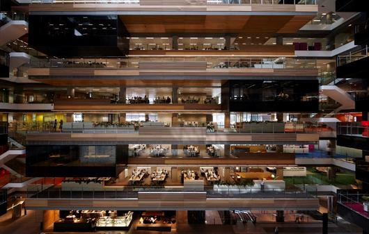 Green Star - ANZ World Headquarters - Second building in Australia to achieve a 6 Star Green Star certification 'trifecta' of Design, As Built and Interiors ratings #greenbuilding #greenstar #sustainabledesign