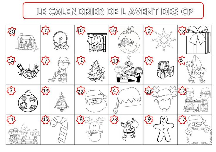 MON CALENDRIER DE L'AVENT - La classe de Corinne