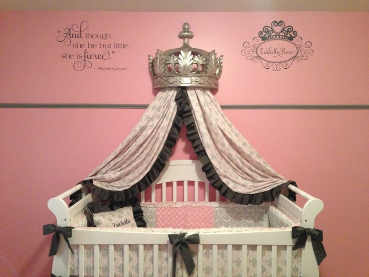 Royal Princess Nursery decorated with decals by TheDecalGirl on Etsy.  Gorgeous.